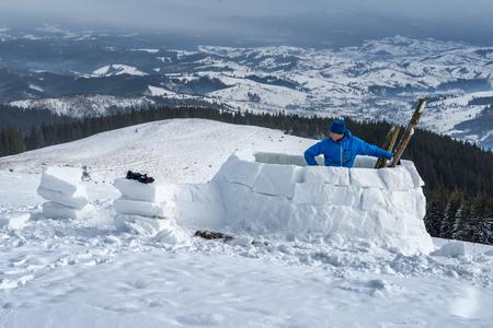 Iglubau im Hochgebirge photo