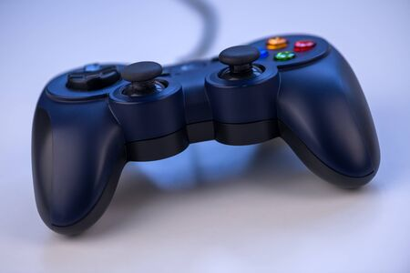 the blue gamepad close up