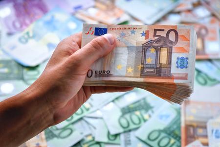 cash in man hand closeup Reklamní fotografie