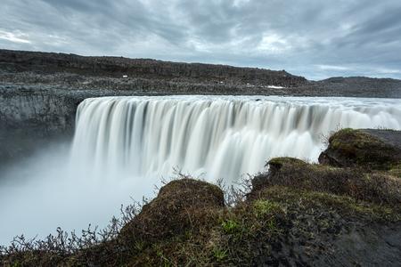 Dettifoss - most powerful waterfall in Europe. Jokulsargljufur National Park, Iceland.
