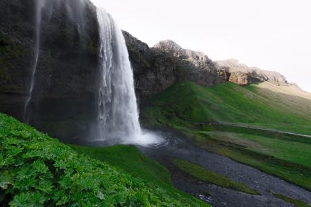 Sonnenaufgang am Seljalandfoss Wasserfall