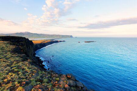 Incredible view of the Black beach Lizenzfreie Bilder
