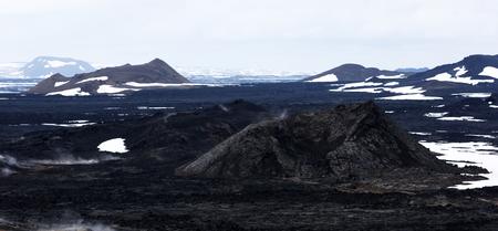 Lavas field in the geothermal valley Lizenzfreie Bilder