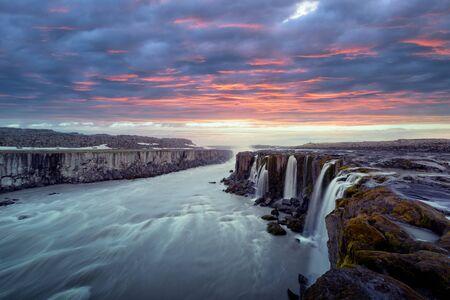Berühmter Selfoss-Wasserfall Lizenzfreie Bilder