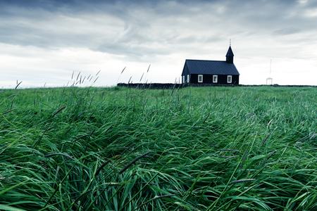 Black wooden church Budakirkja