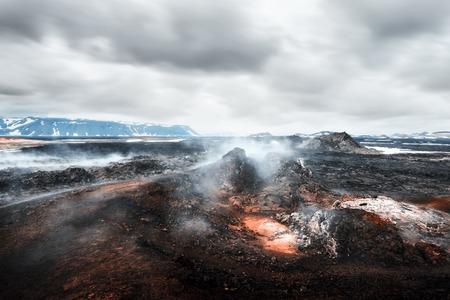 Lavas Feld im geothermischen Tal Lizenzfreie Bilder