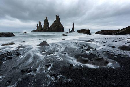 Basalt rock formations Troll toes Lizenzfreie Bilder