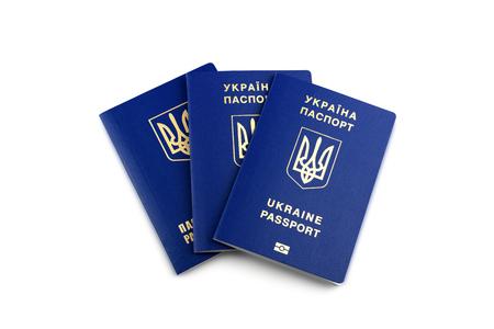 Ukrainische biometrische Pässe Lizenzfreie Bilder