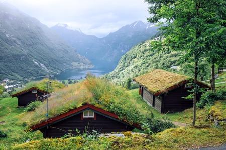 Breathtaking view of Sunnylvsfjorden fjord Lizenzfreie Bilder