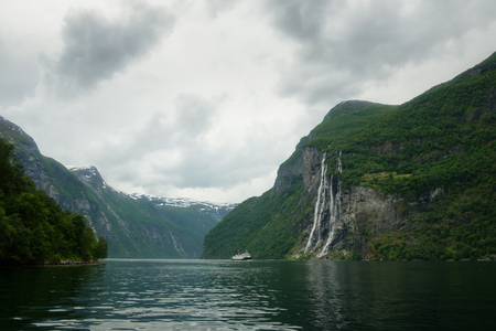 Breathtaking view of Sunnylvsfjorden fjord Stock Photo