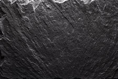Black slate texture closeup. Can be used like food background Standard-Bild