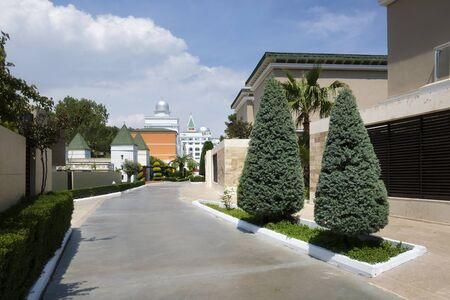 TEKIROVA Türkei - 5. Mai 2017: Das beliebte Resort Amara Dolce Vita Luxury Hotel. Typ - alles inklusive. Haben Sie Pool, Wasserpark und Erholungsgebiet entlang der Mittelmeerküste. Tekirova-Kemer Editorial