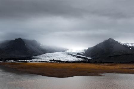Glacier in Vatnajokull glacial lagoon. Vatnajokull National Park, southeast Iceland, Europe. Landscape photography
