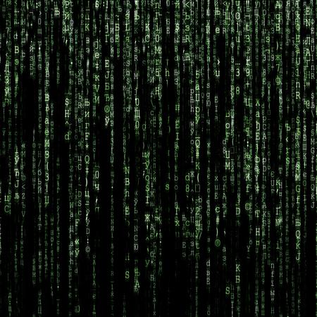 Green matrix generated on computer