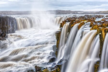Famous Selfoss waterfall in Jokulsargljufur National Park, Iceland, Europe. Landscape photography