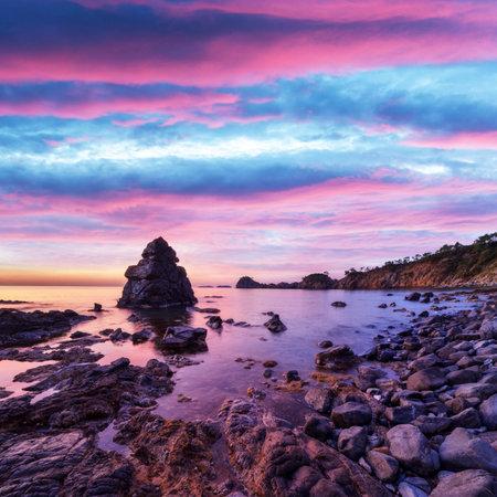 Amazing Mediterranean seascape in Turkey during sunset. Landscape photography Standard-Bild
