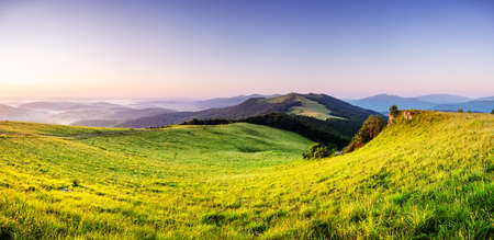 Amazing scene on summer mountains