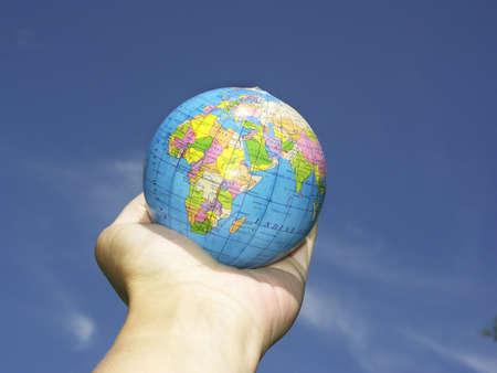 world in hand photo