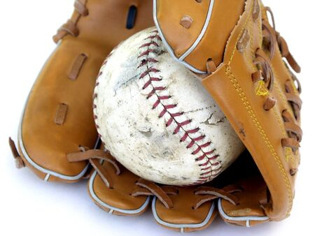 partial ball and glove photo