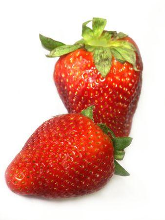 isolated strawberrys,shallow dof