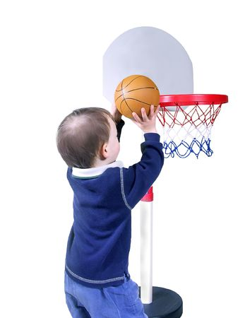 scored: closer view of child putting in a hoop