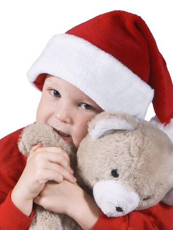 cousin: boy and his bear Stock Photo