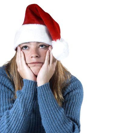 クリスマス ブルースと隔離される女性