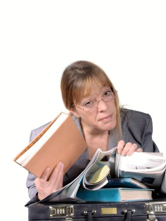 woman tired of work photo