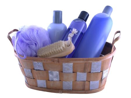shampooing: isolated bath products