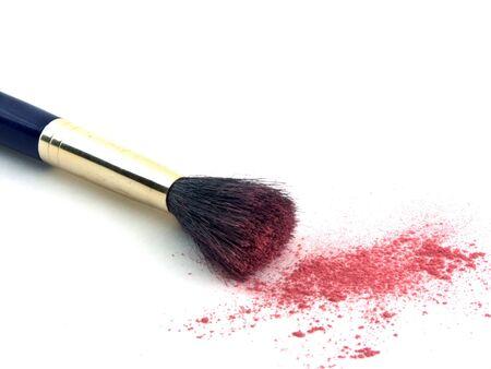 isolated blush brush and powder photo