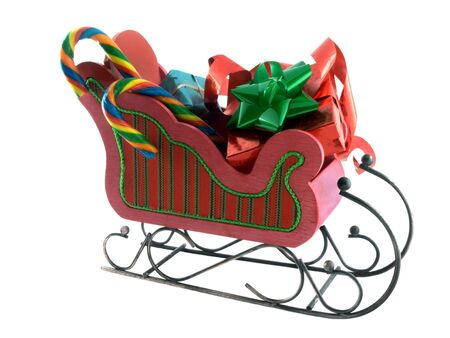 goodies: isolated sleigh with goodies