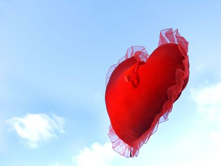 isolated floating heart against sky with room for copy ,text Stock Photo - 307405