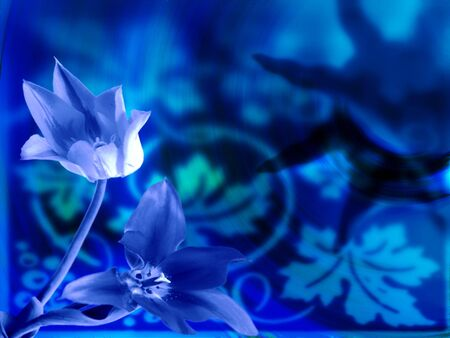 abstract floral background Imagens