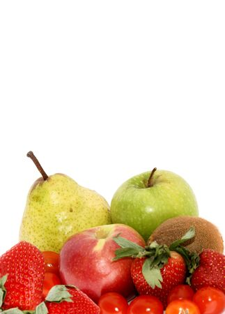 isolated fruit and veg, great for stationary,cards,invatations,greeting-cards,writing-paper,backgrounds Stock Photo - 431393