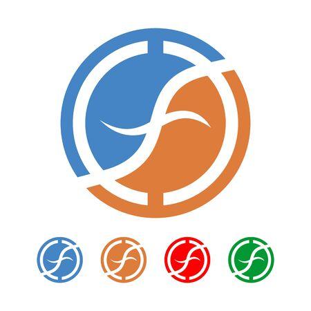 initial: Initial F Round Circle