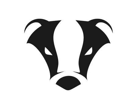 Abstract Cool Badger Illustration