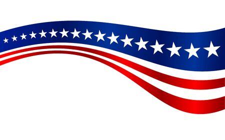 US Flag Stripes Vector Graphic Background Design