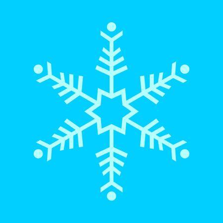 Simple Snowflake Vector Graphic Illustration Sign Symbol Design Иллюстрация