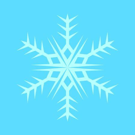 Snowflake Sharp Vector Graphic Illustration Sign Symbol Design