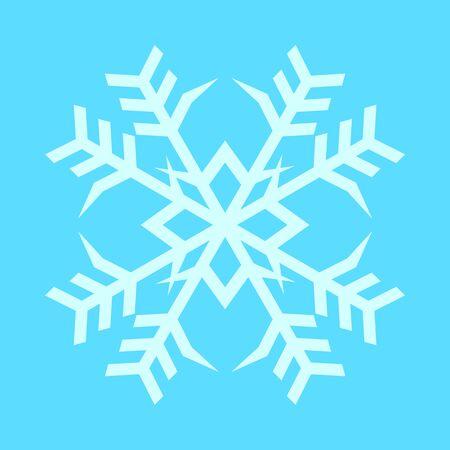 Snowflake Twin Crystal Vector Graphic Illustration Sign Symbol Design