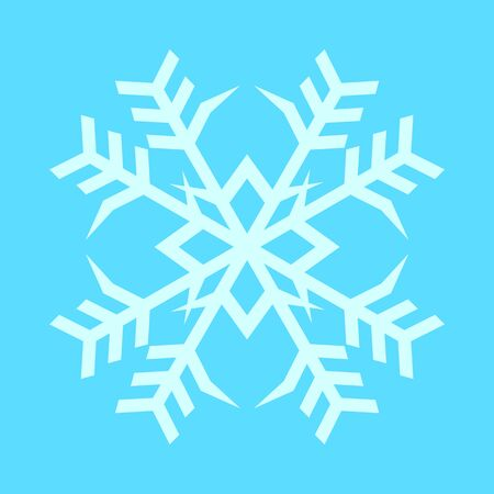 Snowflake Twin Crystal Vector Graphic Illustration Sign Symbol Design