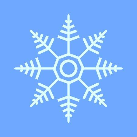 Snowflake Star Vector Graphic Illustration Sign Symbol Design