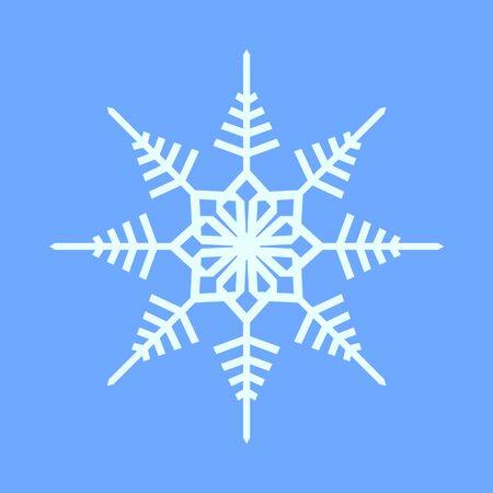 Snowflake Crystal Geometry Vector Graphic Illustration Sign Symbol Design Иллюстрация