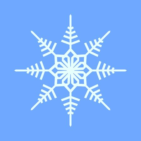 Snowflake Crystal Geometry Vector Graphic Illustration Sign Symbol Design Illustration