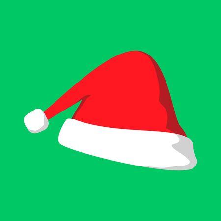 christmas elf hat vector graphic illustration sign symbol design