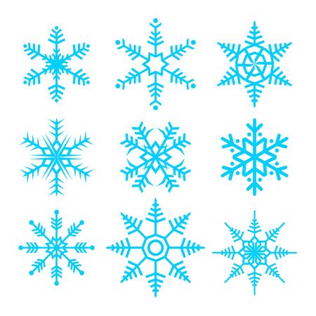 Snowflakes Vector Vector Graphic Illustration Sign Symbol Design Set