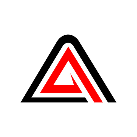 Initial A Accelerate Triangle Symbol Vector Graphic Logo Design