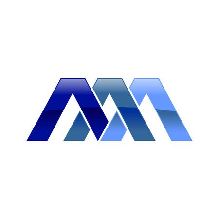 AAA Initial Symbol Vector Logo Design Graphic