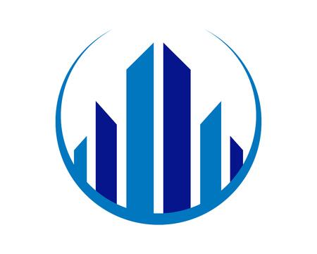 Grafico astratto Logo Design di vettore della realtà vivente della città Archivio Fotografico - 94760722
