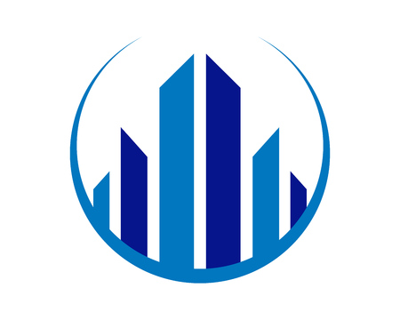 Abstract City Living Realty Symbol Vector Graphic Logo Design
